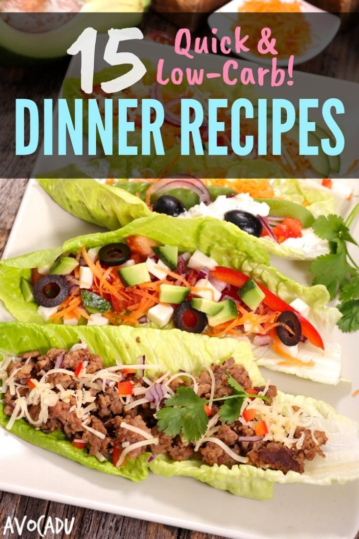Quick Low Carb Dinners  15 Quick Low Carb Dinner Recipes Avocadu