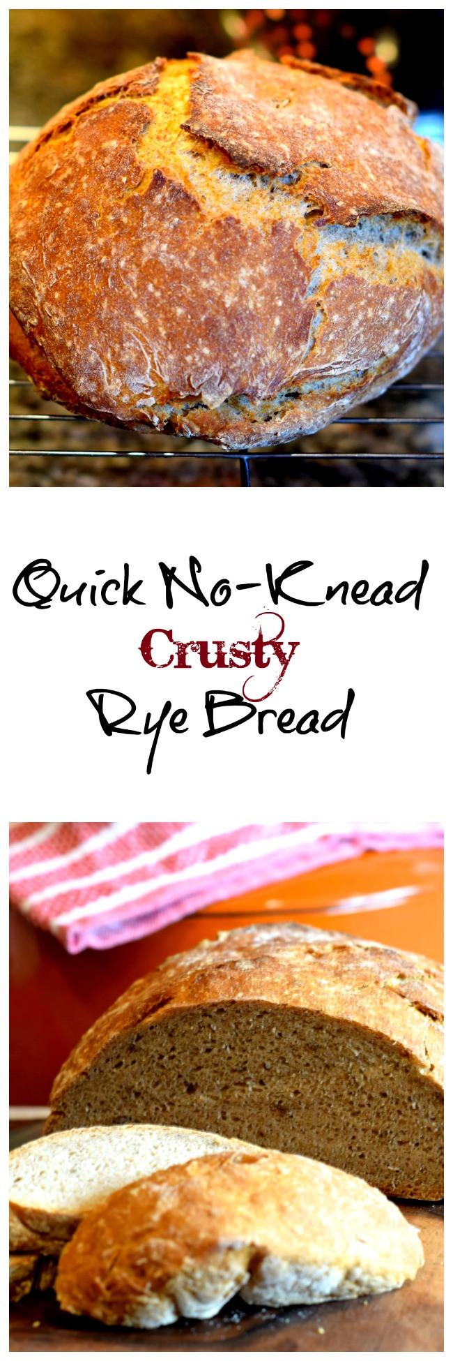Quick No Knead Bread  A Quick No Knead Crusty Rye Bread LindySez Recipe