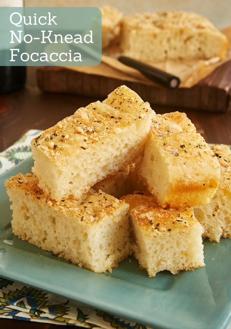 Quick No Knead Bread  Quick No Knead Focaccia Bake or Break