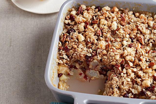 Quick Pear Dessert  Quick Pear & Cranberry Crisp Kraft Recipes
