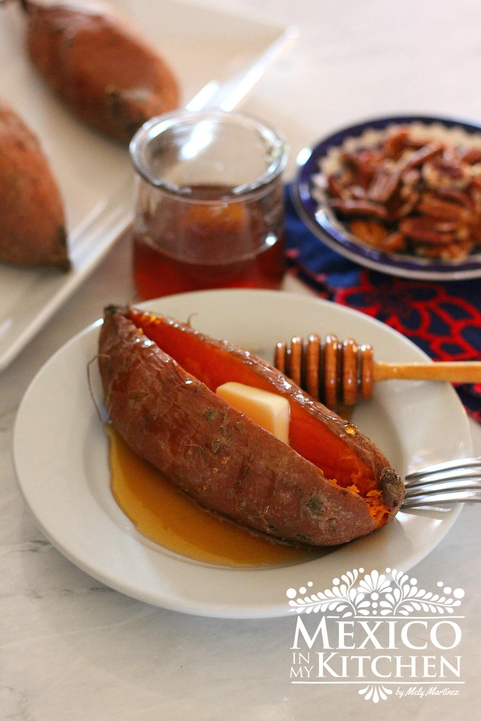 Quick Potato Recipes  Quick Baked Sweet Potatoes with Honey