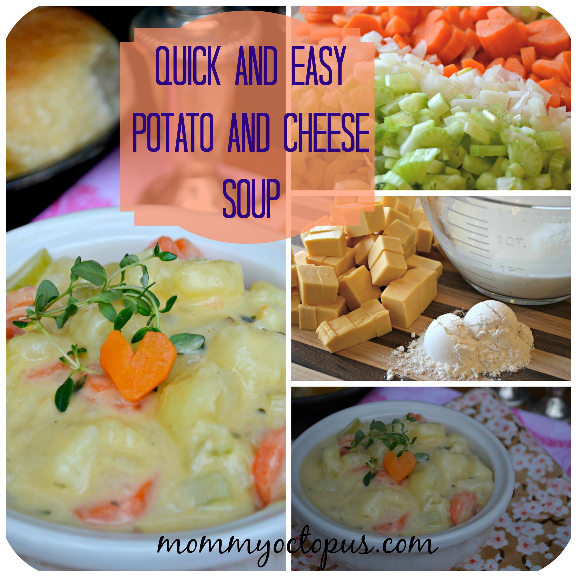 Quick Potato Recipes  Tasty Tuesday Quick and Easy Potato Cheese Soup Recipe