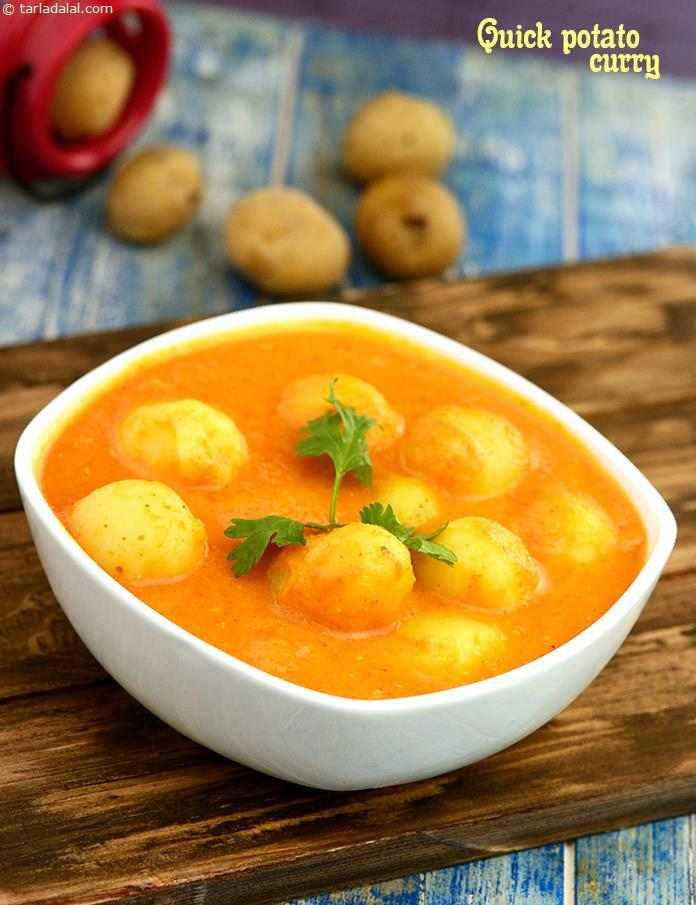 Quick Potato Recipes  Quick Potato Curry Desi Khana recipe