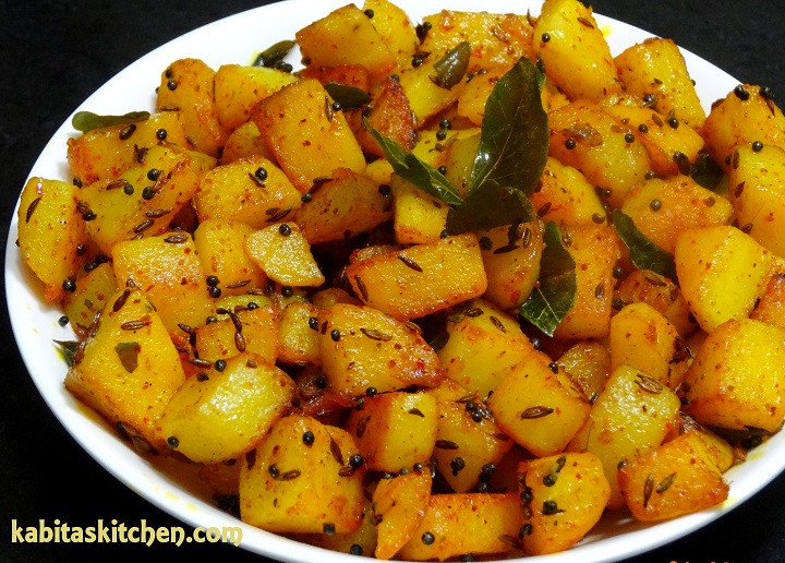 Quick Potato Recipes  Kabita s Kitchen Aloo Fry Recipe Simple Potato Fry for