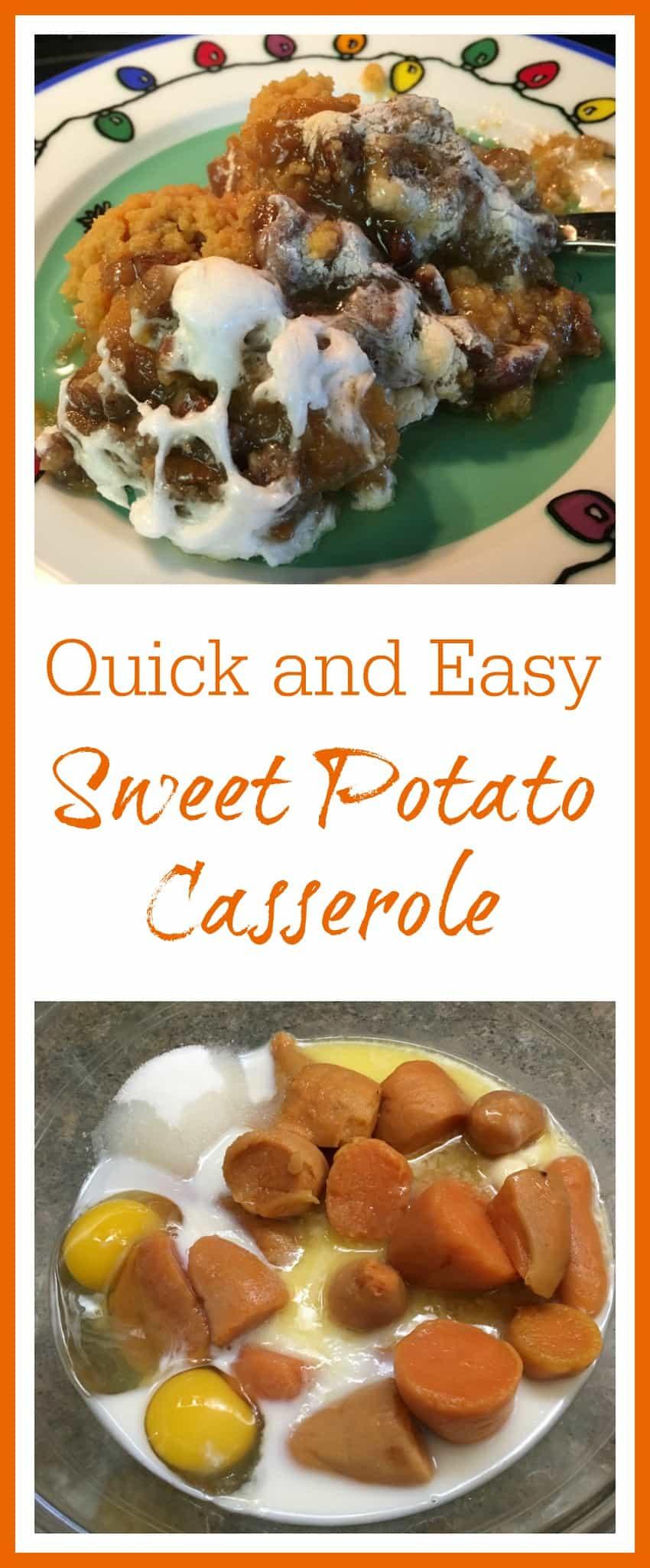 Quick Potato Recipes  Savory Quick and Easy Holiday Sweet Potato Casserole
