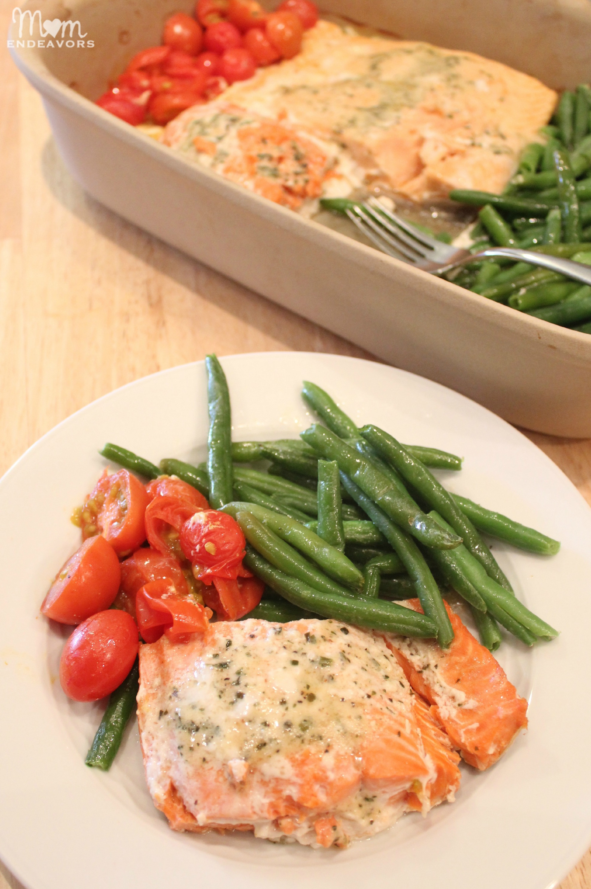 Quick Recipes For Dinner  Quick & Healthy Recipe e Pan Baked Salmon & Ve ables