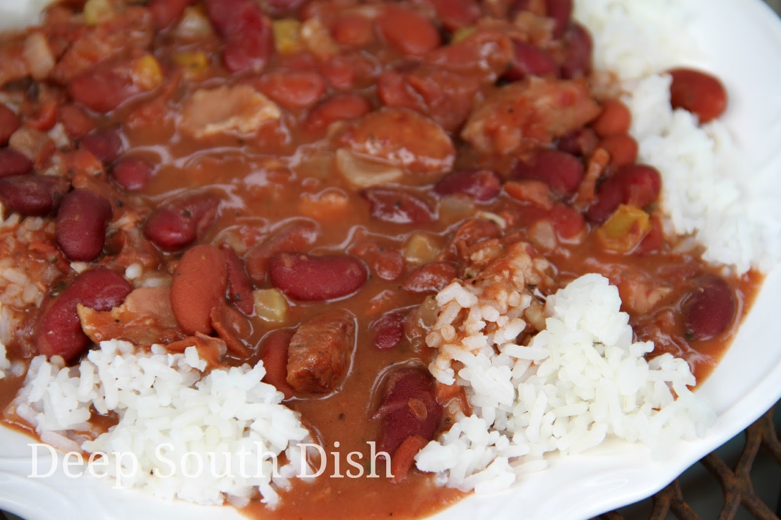 Quick Red Beans And Rice Recipe  Deep South Dish Blue Runner Shortcut Red Beans and Rice