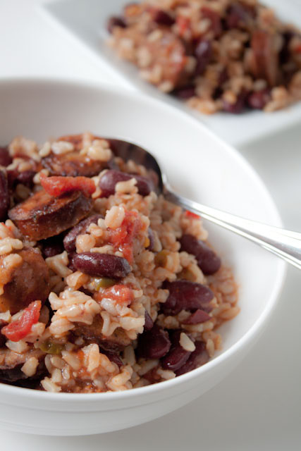 Quick Red Beans And Rice Recipe  Quick Red Beans and Rice with Andouille Sausage