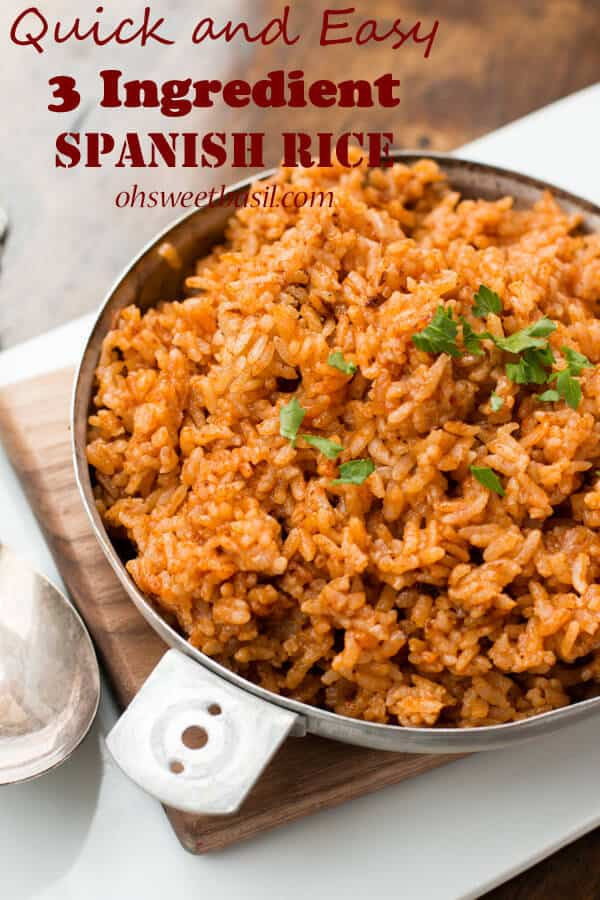 Quick Spanish Rice  Easy spanish recipe magra con tomate Cook and Post