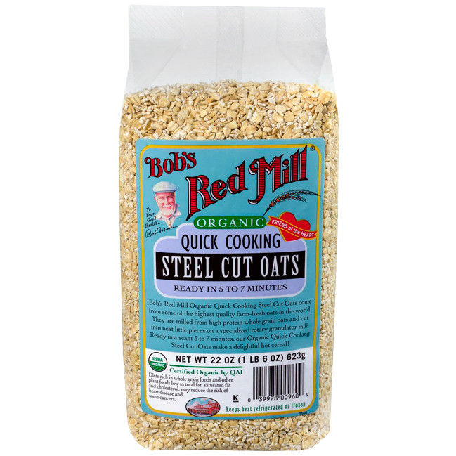 Quick Steel Cut Oats  Bob s Red Mill Organic Quick Cooking Steel Cut Oats 22 oz
