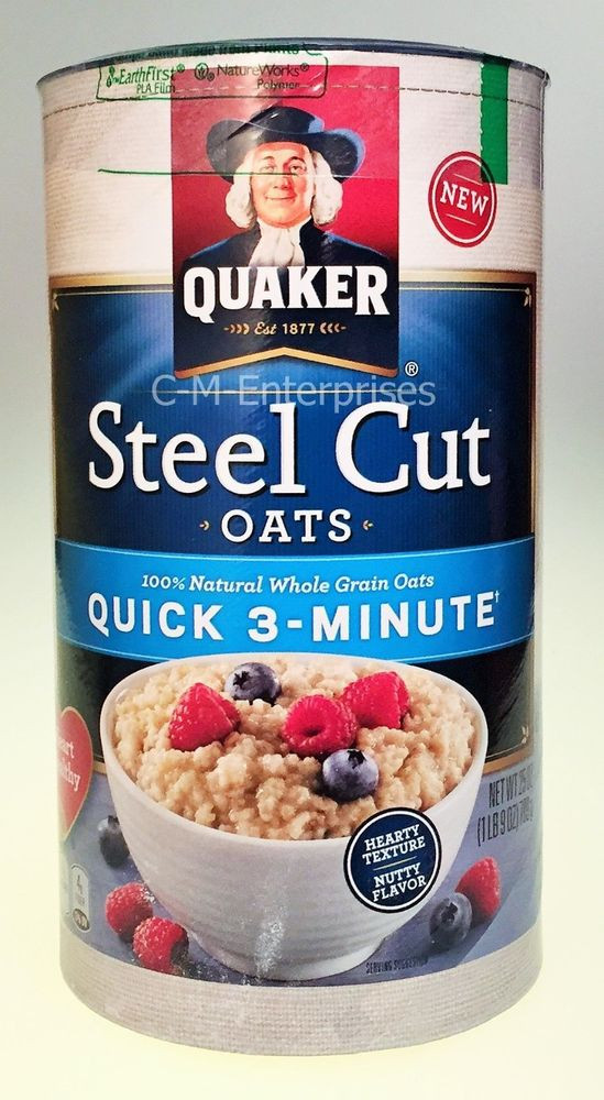 Quick Steel Cut Oats  Quaker Steel Cut Oats Quick 3 Minute Cereal 25 oz