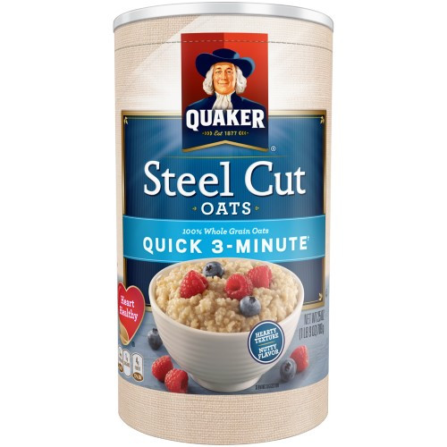 Quick Steel Cut Oats  Quaker Quick 3 Minute Oats Steel Cut 25 Oz