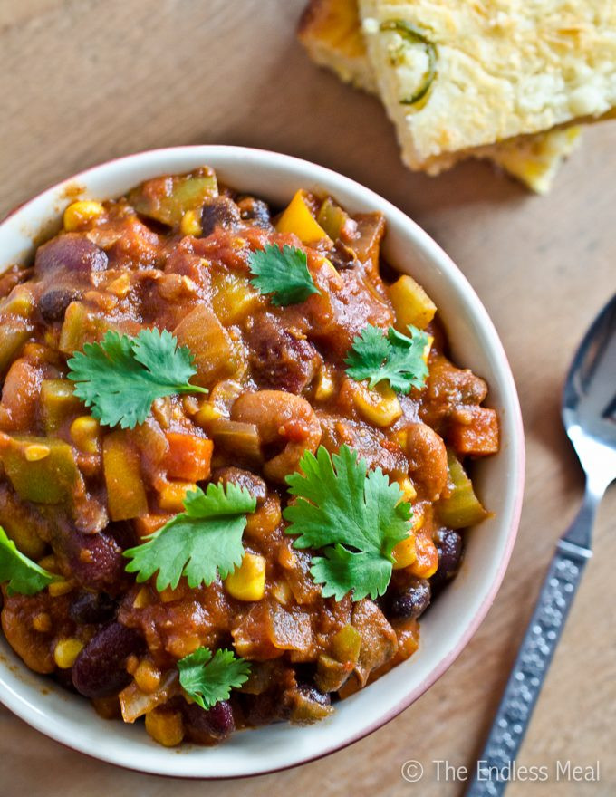 Quick Vegetarian Recipes  Easy Ve arian Chili Recipe