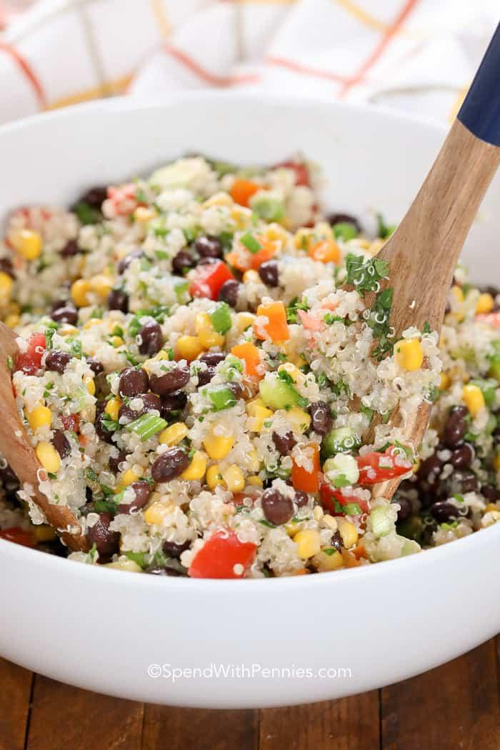 Quinoa And Black Bean Salad  Black Bean Quinoa Salad Spend With Pennies