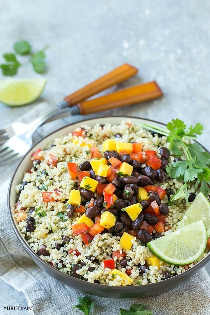 Quinoa And Black Bean Salad  Easy Mango Quinoa and Black Bean Salad