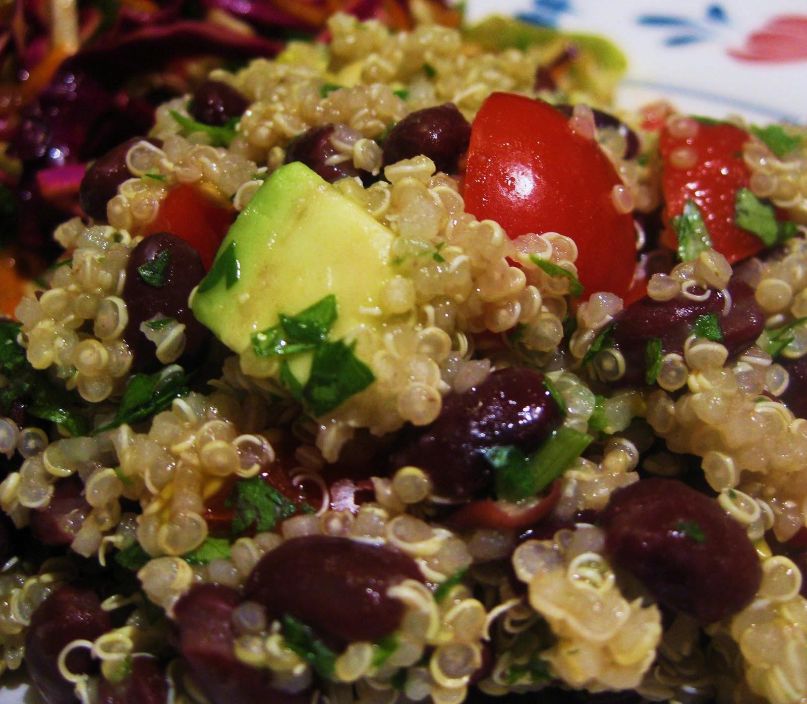 Quinoa And Black Bean Salad  Quinoa 3 Ways