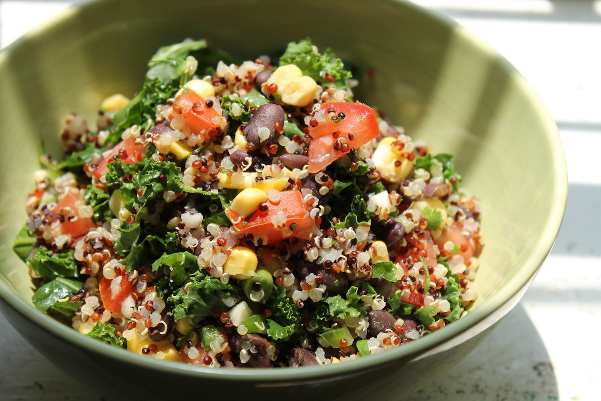 Quinoa And Black Bean Salad  Red Quinoa And Black Bean Ve able Salad Recipe — Dishmaps