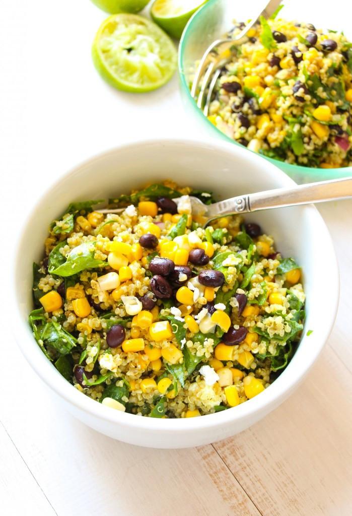 Quinoa And Black Bean Salad  Tex Mex Black Bean Corn Quinoa Salad Layers of Happiness