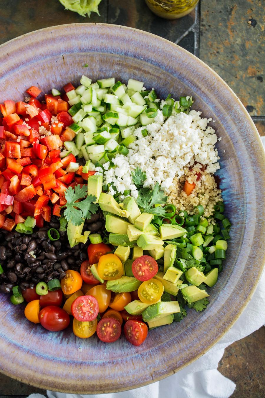 Quinoa And Black Bean Salad  Black Bean Quinoa Salad with Lime Vinaigrette