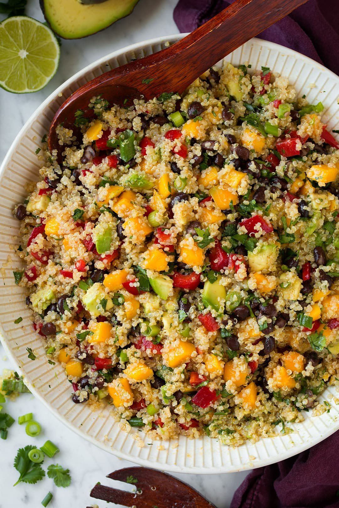 Quinoa And Black Bean Salad  Mango Black Bean and Avocado Quinoa Salad Cooking Classy