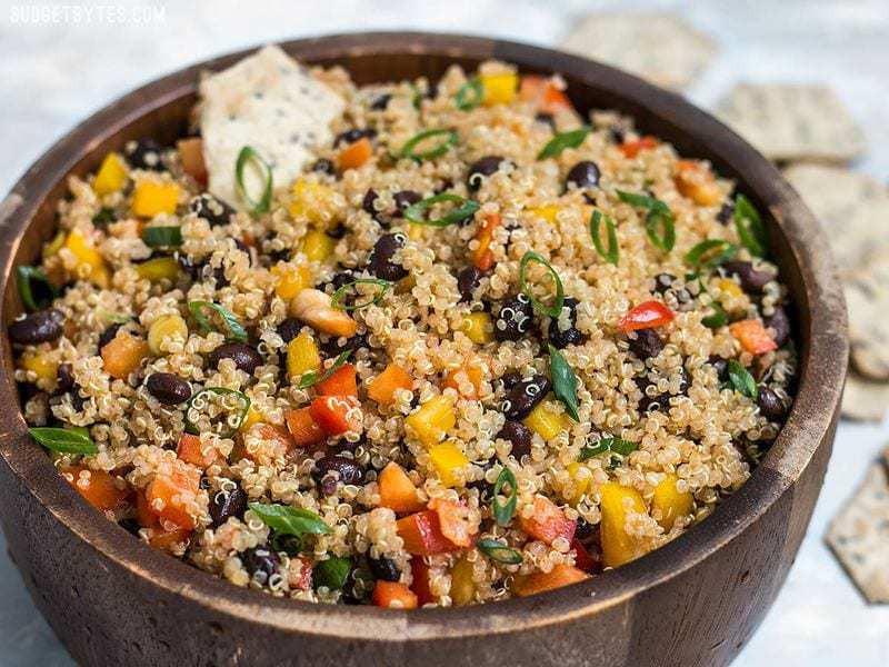 Quinoa And Black Bean Salad  Smoky Quinoa and Black Bean Salad Bud Bytes