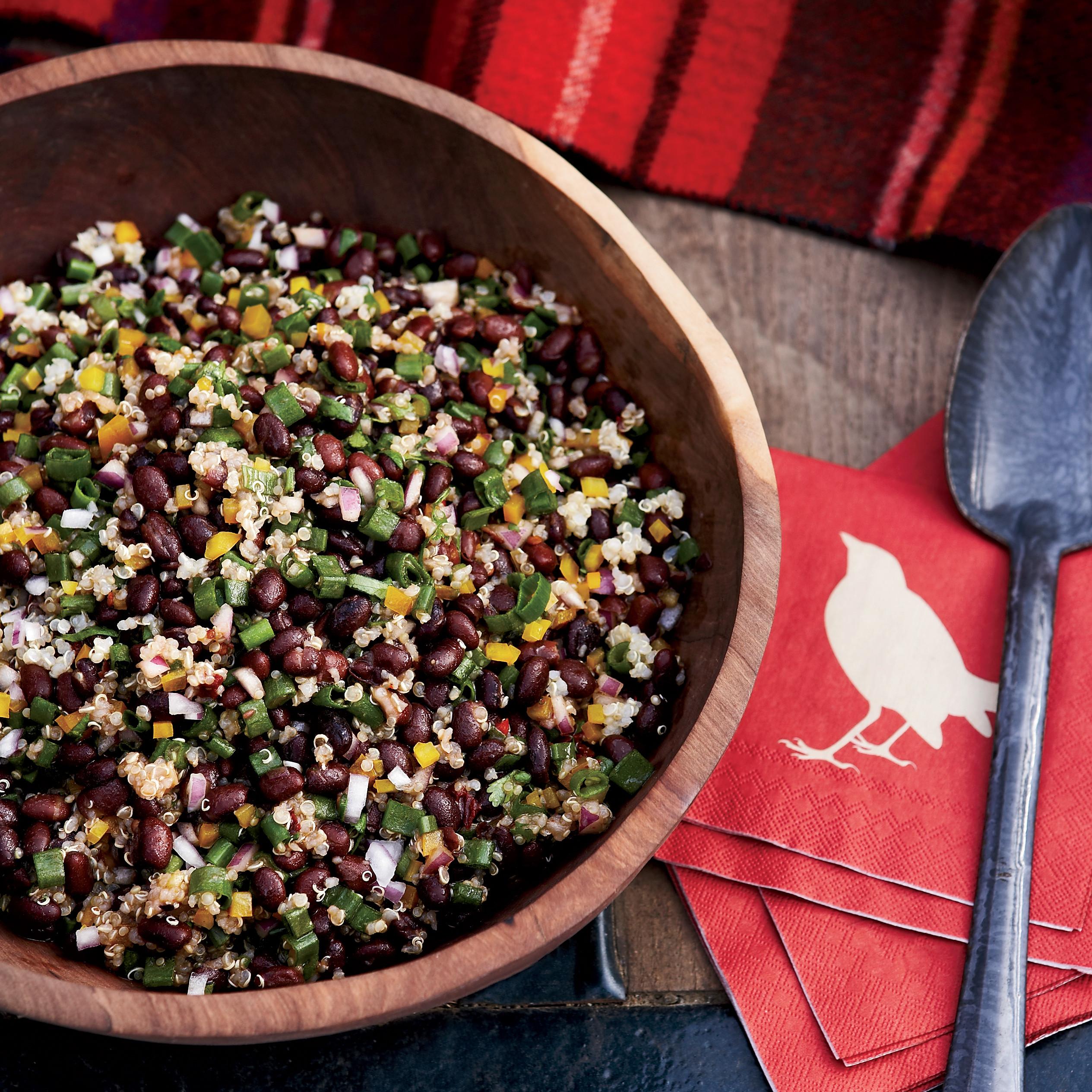 Quinoa And Black Bean Salad  Black Bean and Quinoa Salad Recipe Ken Oringer