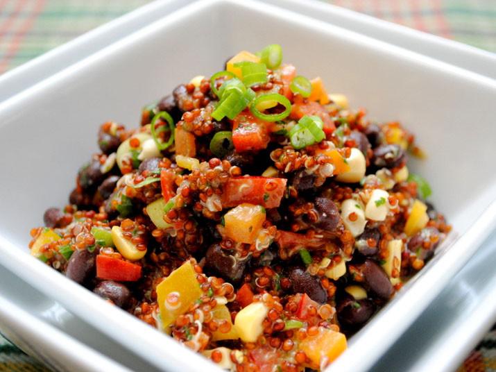 Quinoa And Black Bean Salad  Red Quinoa and Black Bean Salad