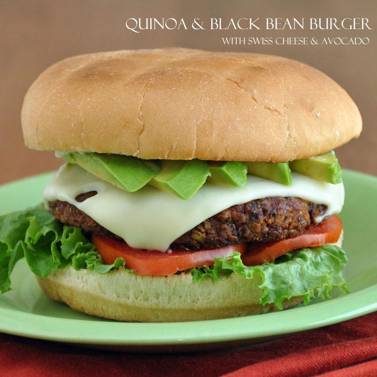 """Quinoa Black Bean Burger  Quinoa and Black Bean Burger and a """"Grain Mains"""" Book"""