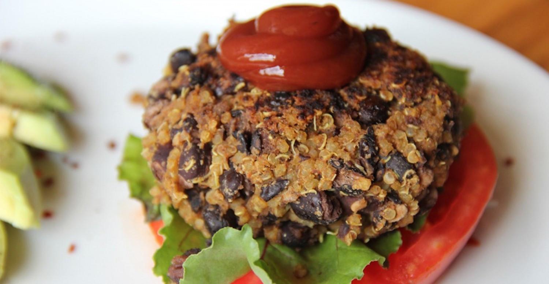 Quinoa Black Bean Burger  Black Bean and Quinoa Burgers Recipe