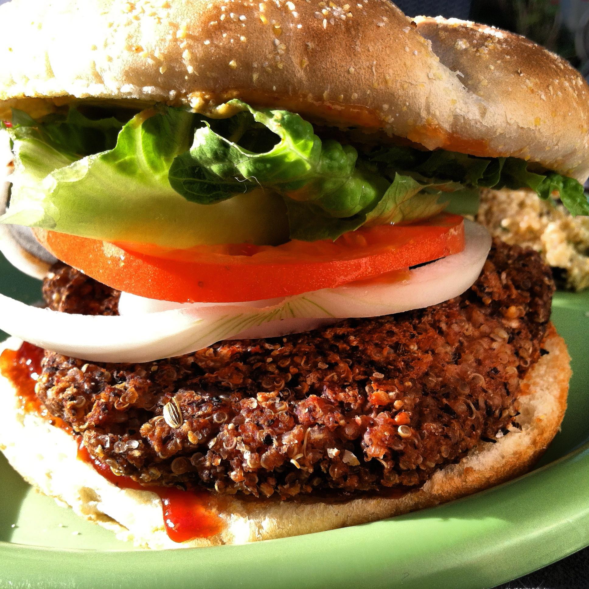 Quinoa Black Bean Burger  Black Bean & Quinoa Burger – Plant Based on a Bud