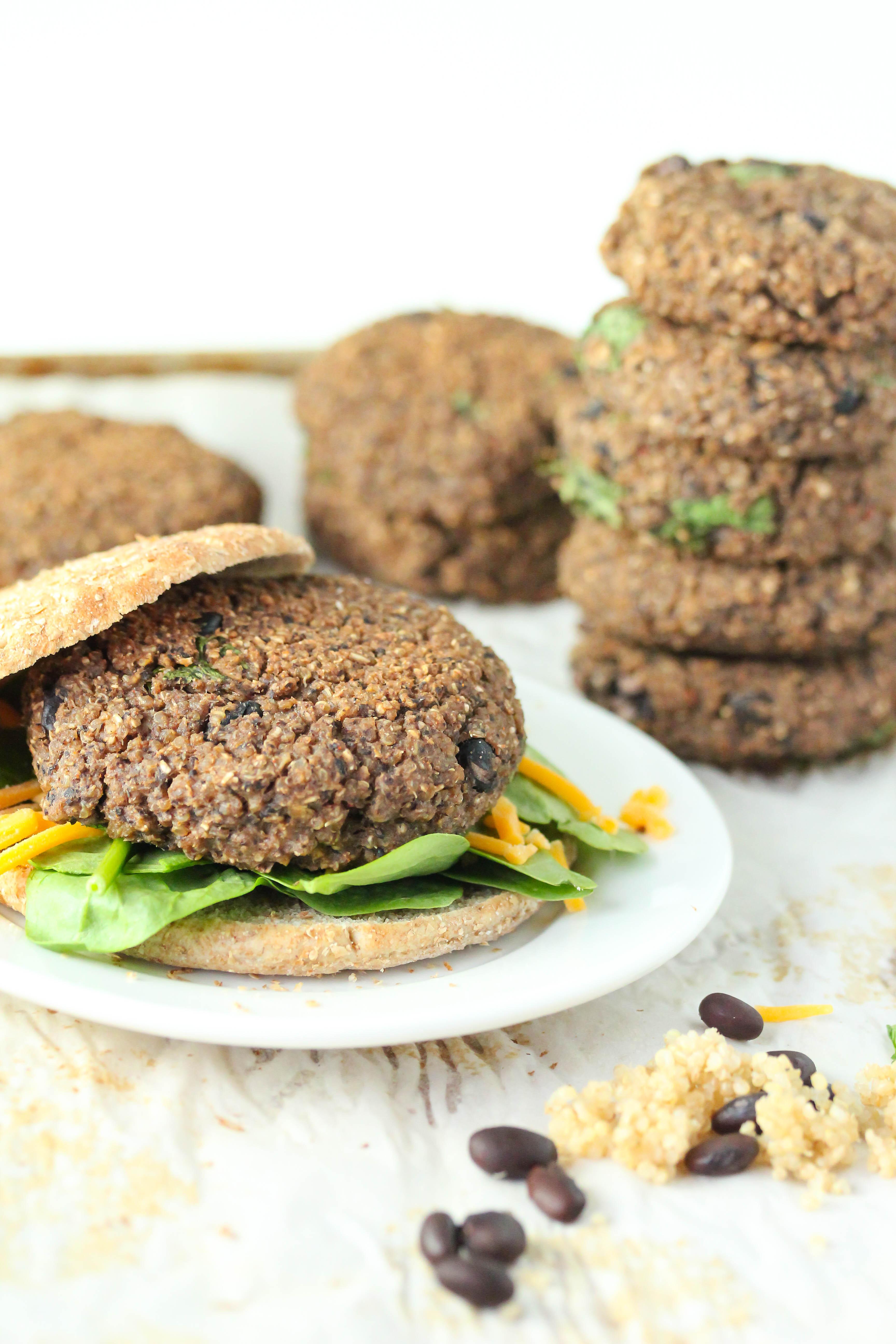 Quinoa Black Bean Burger  Quinoa black bean burgers gluten free