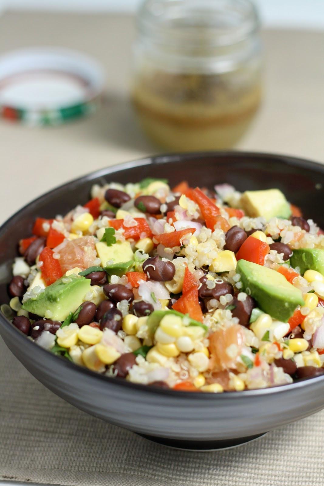 Quinoa Black Bean Salad  dinner or dessert quinoa black bean & citrus salad