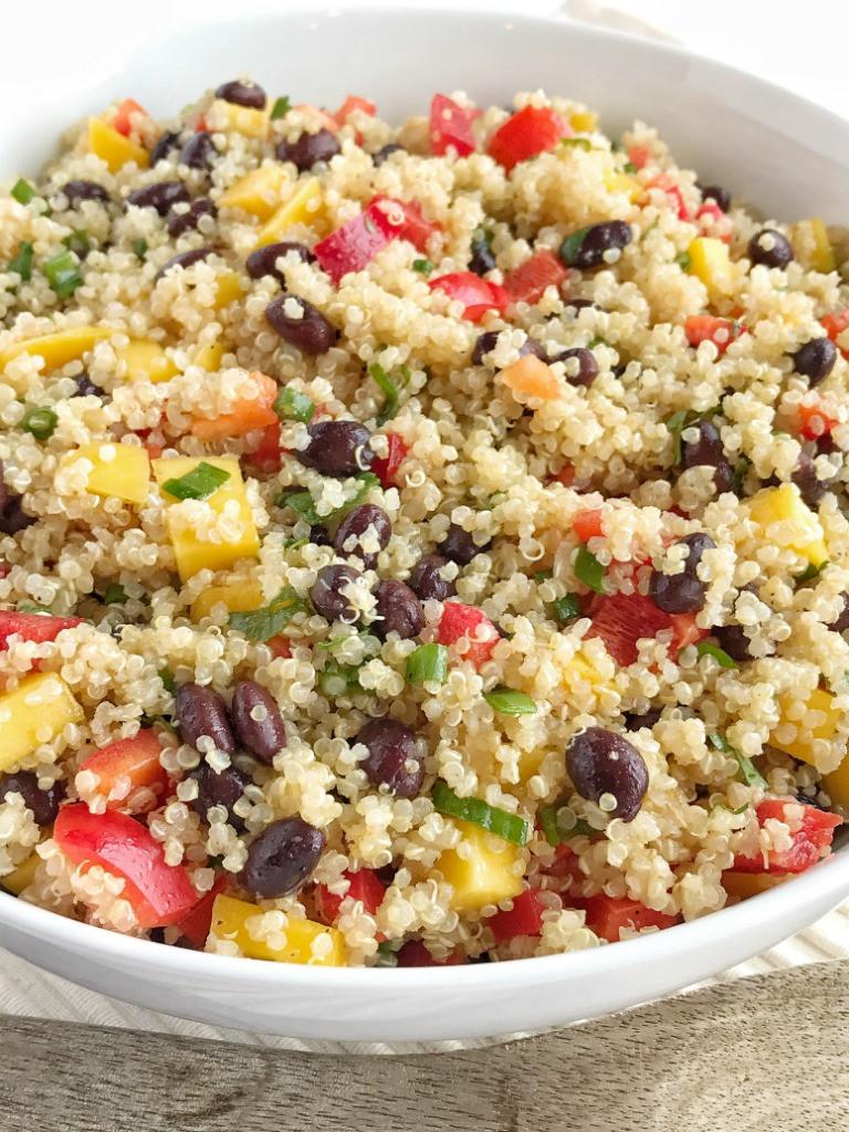 Quinoa Black Bean Salad  Mango Black Bean Quinoa Salad To her as Family