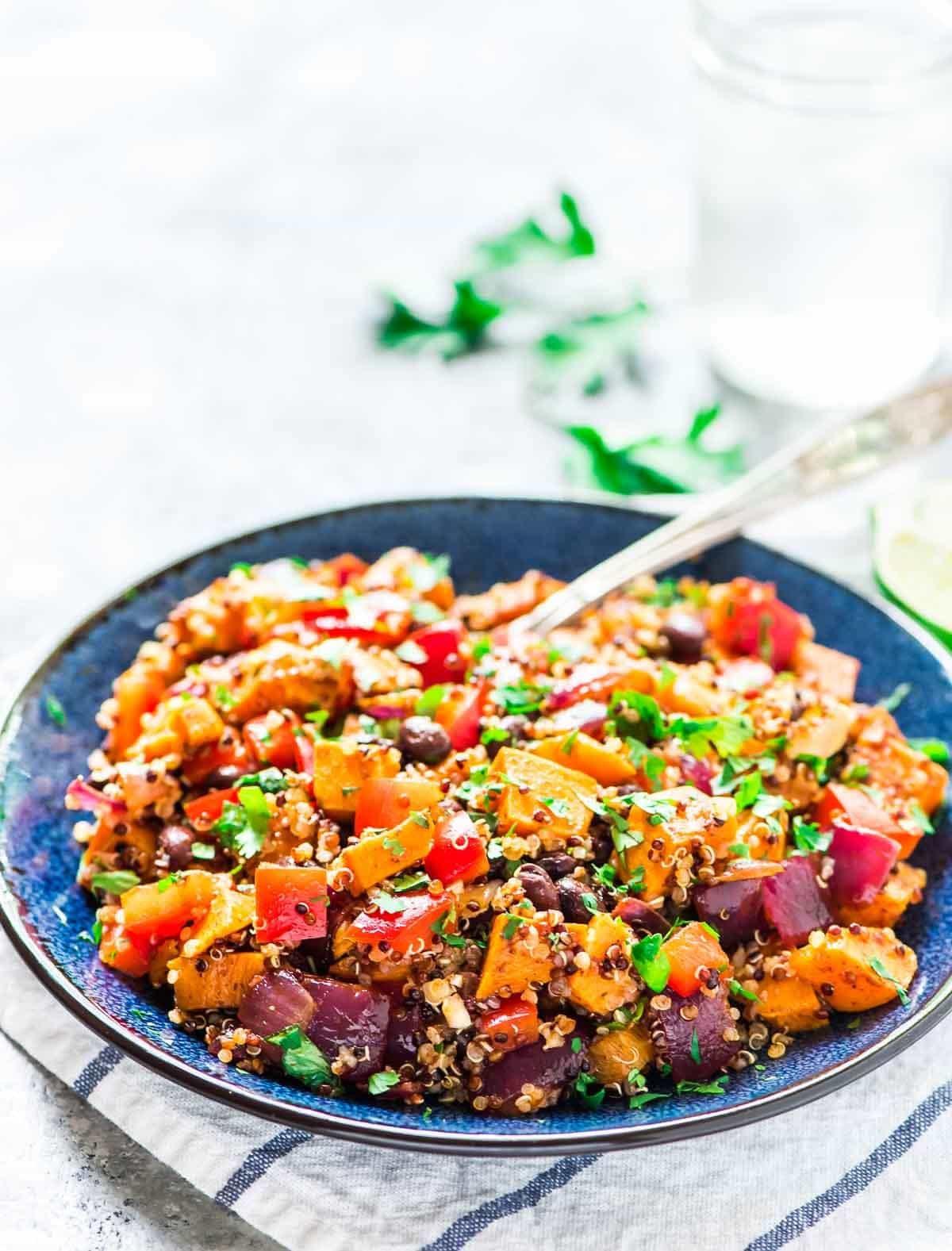 Quinoa Black Bean Salad  Roasted Sweet Potato Quinoa Black Bean Salad