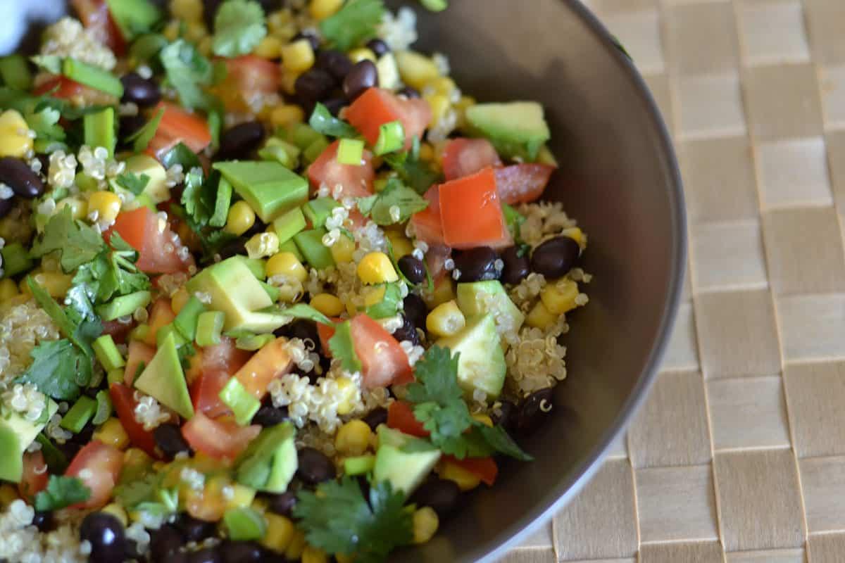 Quinoa Black Bean Salad  Black Bean and Corn Quinoa Salad Wholesomelicious