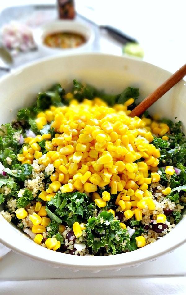 Quinoa Black Bean Salad  Spicy Kale and Quinoa Black Bean Salad The Glowing Fridge