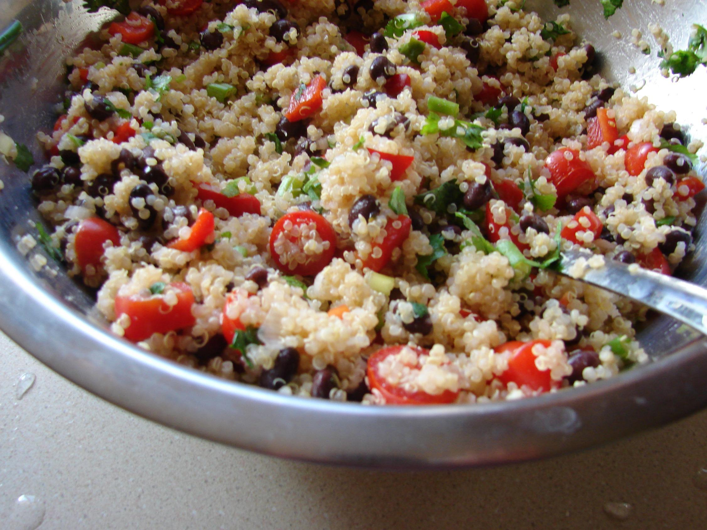Quinoa Black Bean Salad  Quinoa and Black Bean Salad