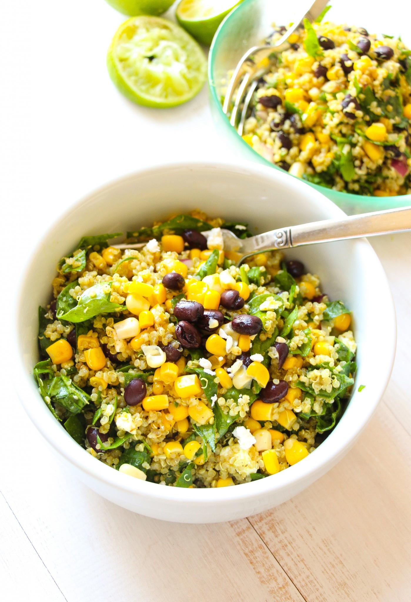 Quinoa Black Bean Salad  Tex Mex Black Bean Corn Quinoa Salad Layers of Happiness