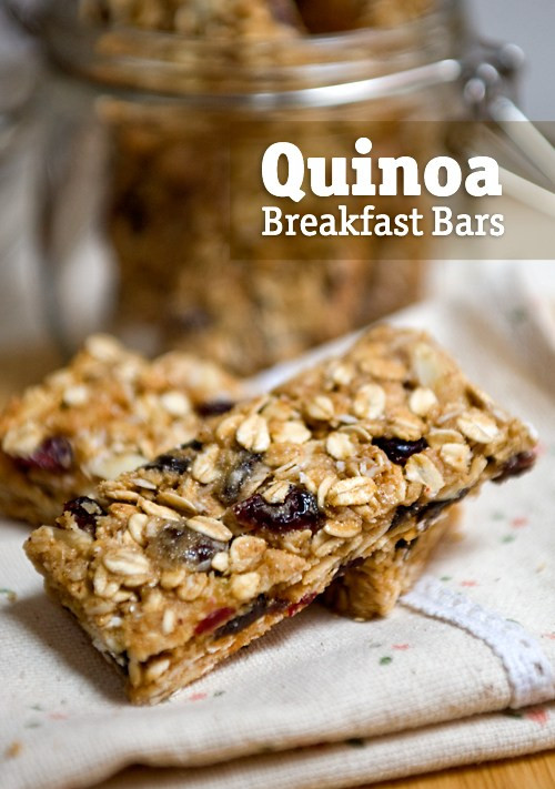 Quinoa Breakfast Bars  Quinoa Breakfast Bars Cooking with Quinoa for Dummies