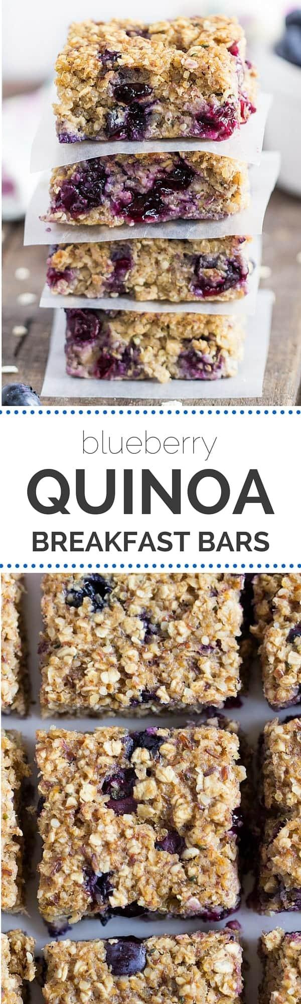 Quinoa Breakfast Bars  Blueberry Quinoa Breakfast Bars Simply Quinoa