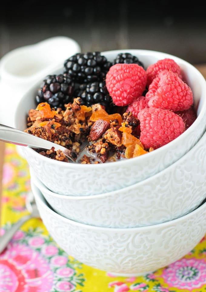 Quinoa Breakfast Cereals  Crunchy Quinoa Breakfast Cereal Gluten Free Veggie