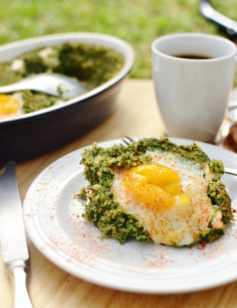 Quinoa Breakfast Eggs  Egg Spinach Quinoa Breakfast Everyday Healthy Recipes