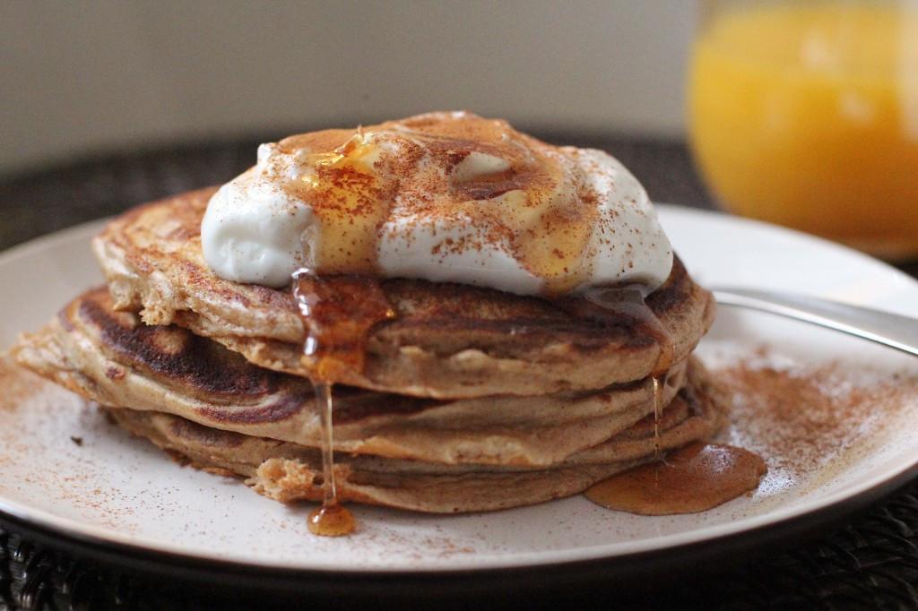 Quinoa Flour Pancakes  Quinoa Flour Whole Wheat Pancakes with Greek Yogurt