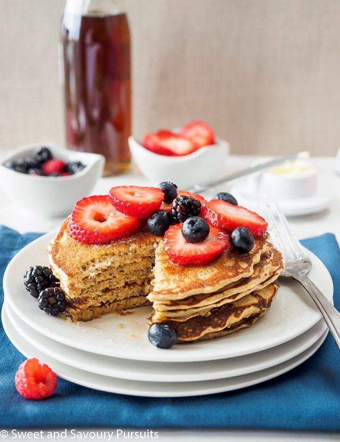 Quinoa Flour Pancakes  Whole Wheat Quinoa Flour Pancakes Sweet and Savoury Pursuits