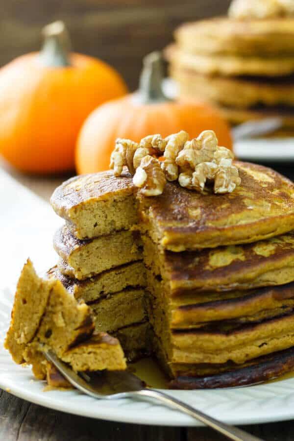 Quinoa Flour Pancakes  Gluten Free Quinoa Flour Pumpkin Pancakes Recipe Gluten