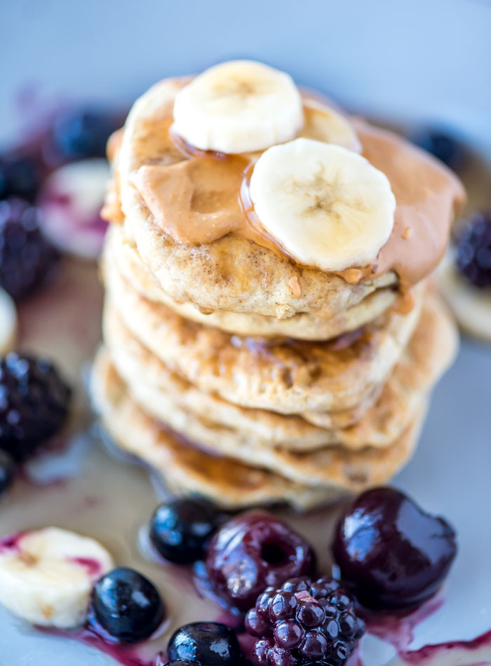 Quinoa Flour Pancakes  Vegan Quinoa Flour Pancakes