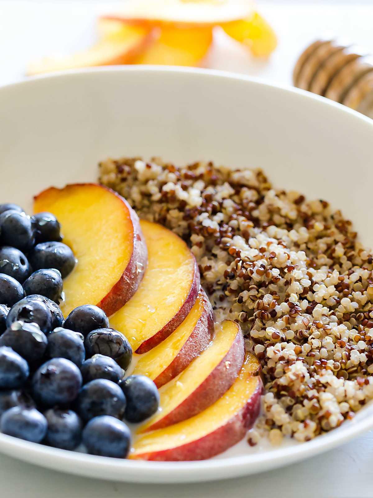 Quinoa For Breakfast  quinoa with fruit for breakfast