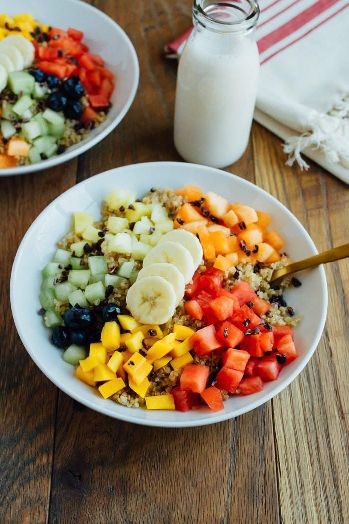 Quinoa For Breakfast  cinnamon quinoa breakfast bowl