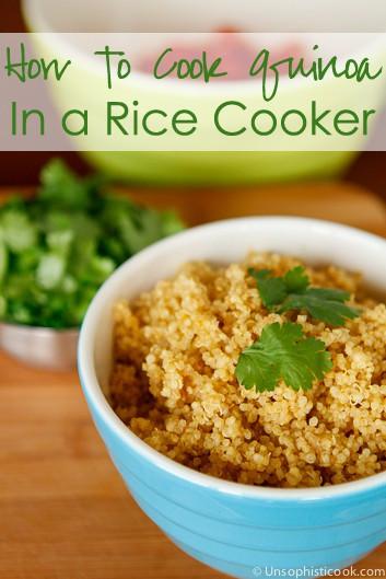 Quinoa In A Rice Cooker  Quinoa in Rice Cooker