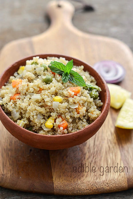 Quinoa Indian Recipes  Quinoa Ve able Pulao Recipe Easy Indian Recipes with